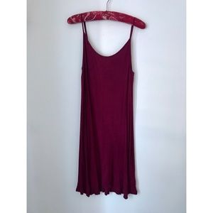 American Eagle Burgundy Tank Dress